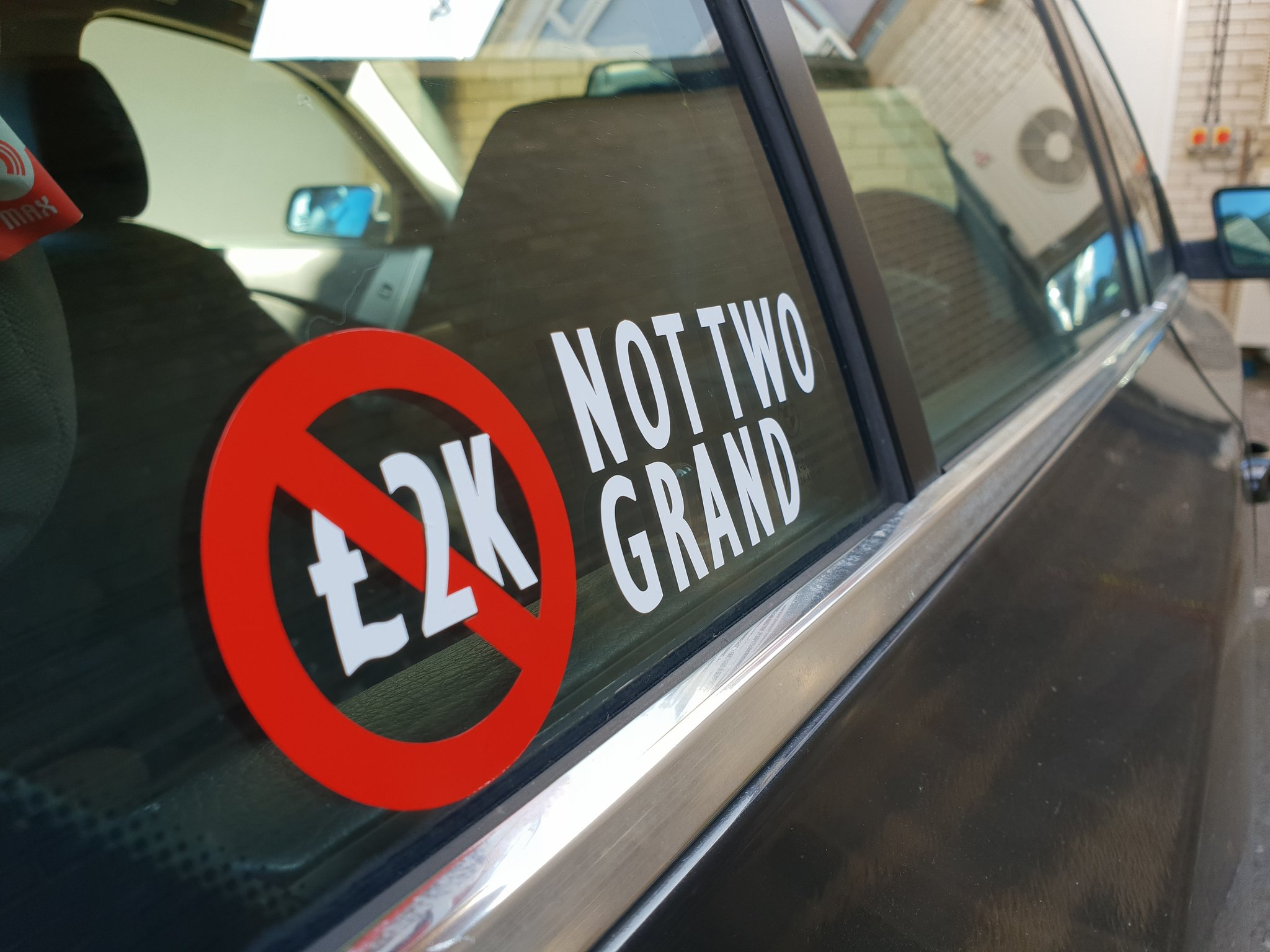 sticker, not2grand, motoring, automotive, car, cars, www.not2grand.co.uk, not2grand, Adrian Flux, motoring, automotive, classic car, retro car