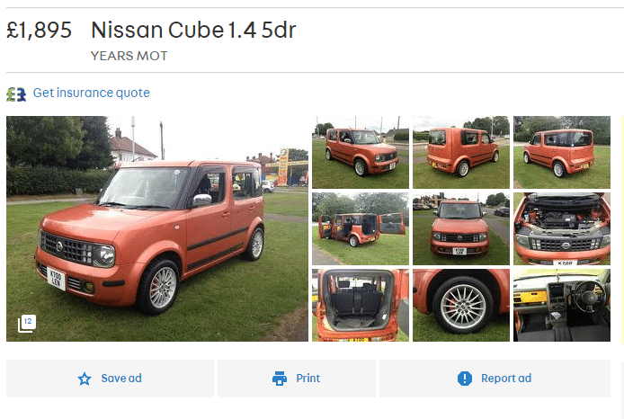 Nissan Cube, Nissan, Cube, Japan, Japanese car, hatchback, family car, odd car, weird car, strange car, automotive, car, cars, retro car, classic car, cheap car, bargain car, motoring, ebay, ebay motors, autotrader
