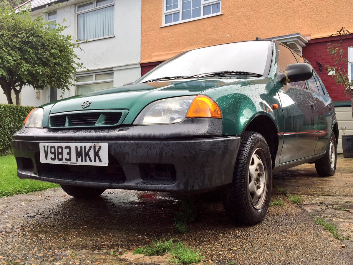 Grotbags Suzuki Swift, Grotbags, Suzuki Swift, Suzuki, Swift, cheap car, bargain car, Penny Taylor, £100 car, £100, bangernomics, old car, classic car, retro car, ebay, ebay motors, autotrader, motoring, automotive, not2grand, N2G