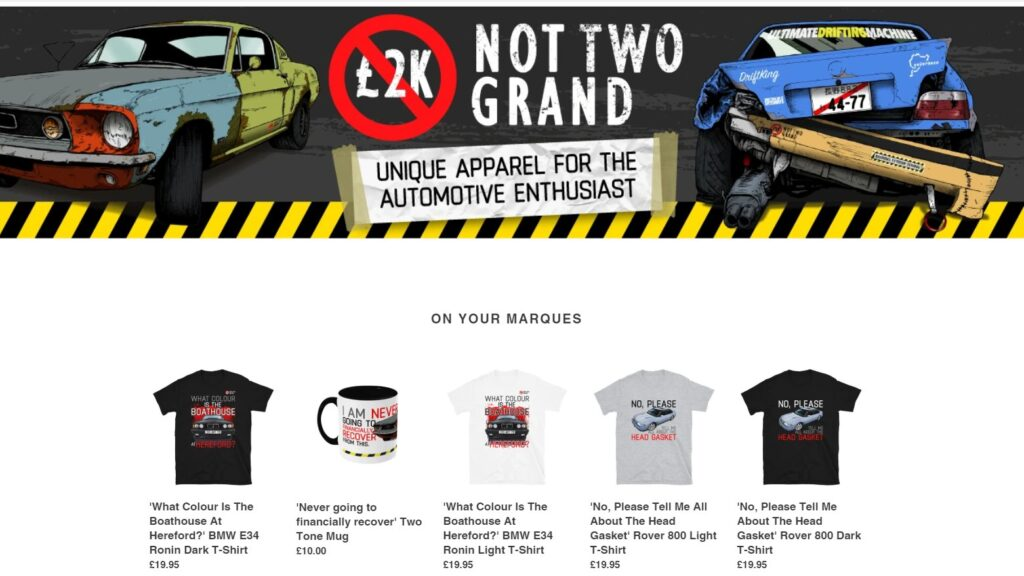 shop, merch, datshweetmerch, not2grand, clothing, car shirt, car mug, mugs, motoring, automotive, classic car, retro car, car culture, car scene, Ronin, BMW, Ford, Rover, project car, shop.not2grand.co.uk, car merch, car, cars,
