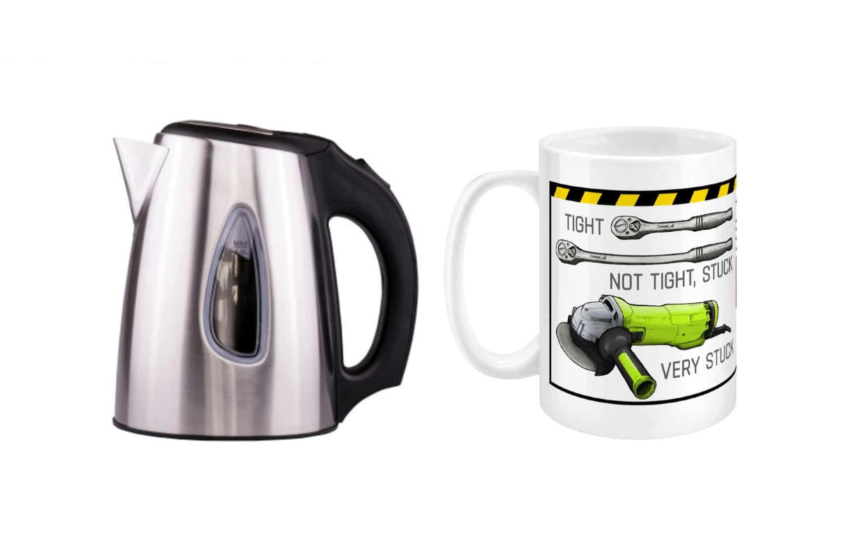 mug, kettle, shop, not 2 grand, not2grand, n2g, n2g shop, coffee, tea, working on cars, fixing cars, diy, tools, not2grand.co.uk